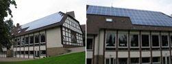 Kundenanlage der Solargemeinschaft Porta-Holzhausen auf dem Gemeindehau